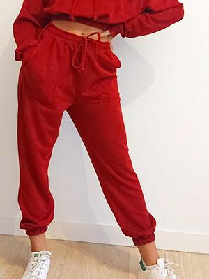 Pantalón chandal rojo