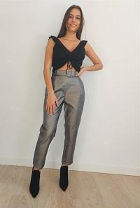 Pantalón gris polipiel