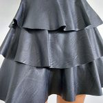 Minifalda Polipiel Volantes