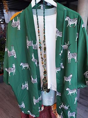 Kimono corto zebra print
