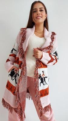 Chaqueta tribal rosa