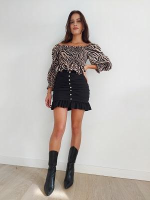 Minifalda Fruncida.