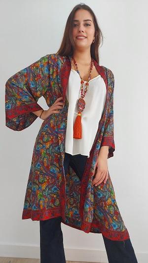 kimono de seda colores