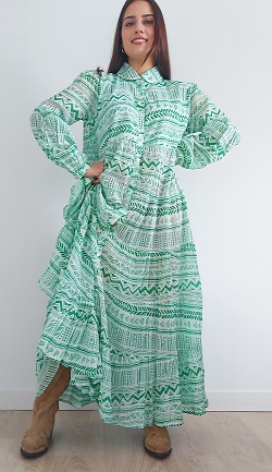 Vestido esmeralda largo